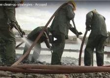 Vidéo de présentation des techniques de nettoyage du littoral suite à une pollution accidentelle